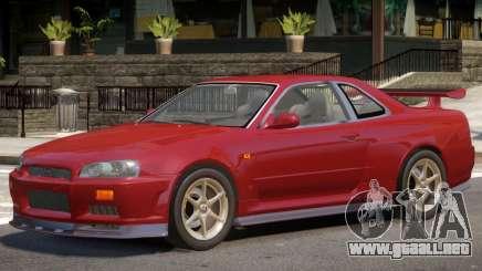 Nissan Skyline GT-R34 V1.1 para GTA 4