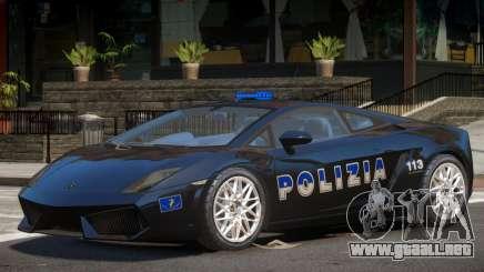 Lambo Gallardo Police para GTA 4