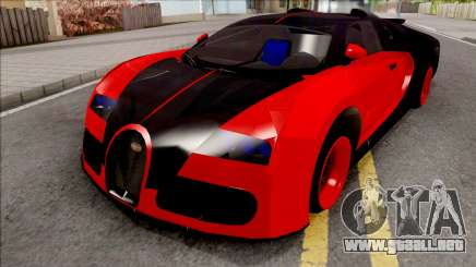 Bugatti Veyron Red para GTA San Andreas