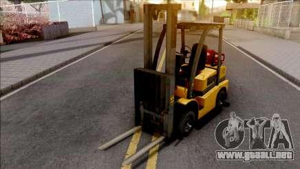 GTA V HVY Forklift SA Style para GTA San Andreas