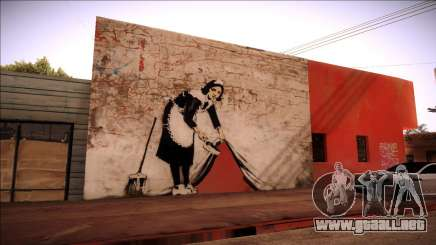 Graffiti por Banksy para GTA San Andreas