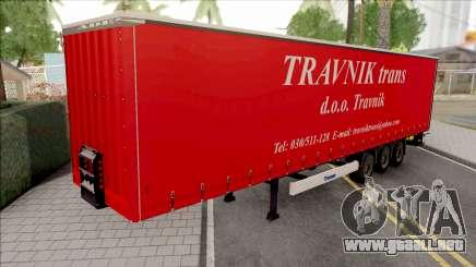 Travnik Trans Trailer para GTA San Andreas