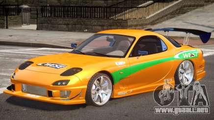 Mazda RX-7 Custom V1.0 PJ para GTA 4