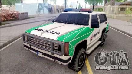 Lietuviska Police Ranger (Nauja) para GTA San Andreas