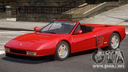 Ferrari Testarossa Roadster para GTA 4