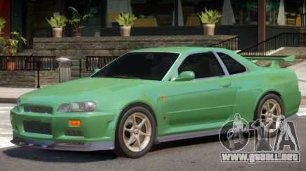 Nissan Skyline GT-R34 V1.2 para GTA 4