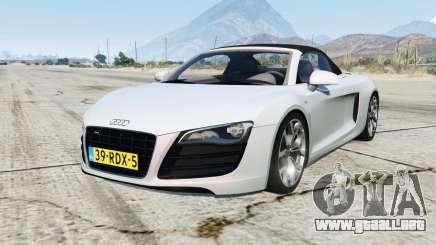 Audi R8 Spyder para GTA 5