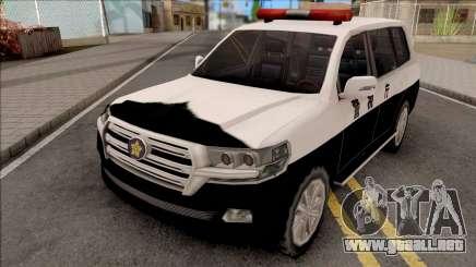 Toyota Land Cruiser 200 2016 Patrol Car SA Style para GTA San Andreas