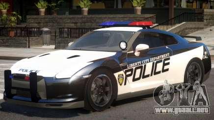 Nissan GTR Police para GTA 4