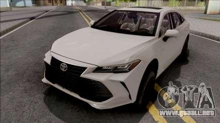 Toyota Avalon Hybrid 2020 White para GTA San Andreas