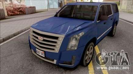 Cadillac Escalade 2016 Lowpoly v2.0 para GTA San Andreas