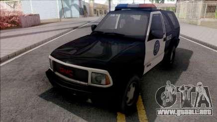 GMC Jimmy 2001 Police para GTA San Andreas
