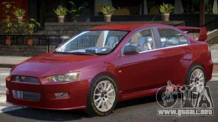 Mitsubishi Lancer X V1.0 para GTA 4