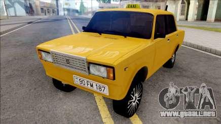 ВАЗ 2107 Deriva de Taxi de la Ciudad de Bakú para GTA San Andreas