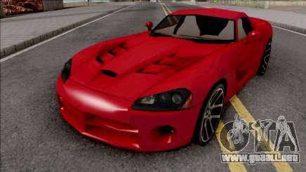 Dodge Viper SRT-10 Low Poly para GTA San Andreas