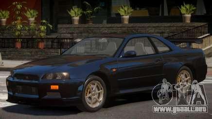 Nissan Skyline R-34 V1.1 para GTA 4