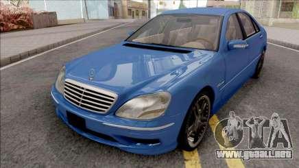 Mercedes-Benz W220 S65 AMG para GTA San Andreas