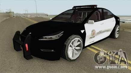 Tesla Model 3 LSPD (Low Poly) 2017 para GTA San Andreas