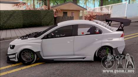Mitsubishi Lancer Evolution X 2015 Varis Kit para GTA San Andreas