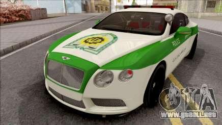 Bentley Continental GT Iranian Police para GTA San Andreas
