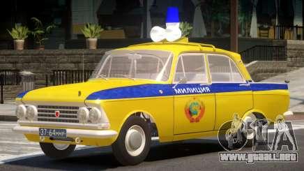 Moscvich 408 Police para GTA 4
