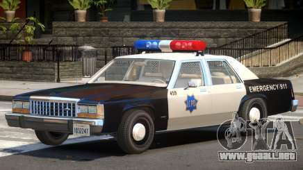 1987 Ford Crown Victoria Police V1.0 para GTA 4