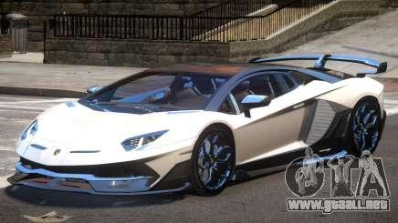 Lamborghini Aventador SVJ para GTA 4