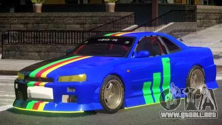 Nissan Skyline GT R34 V1.1 para GTA 4