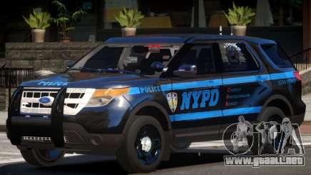Ford Explorer Police V1.1 para GTA 4