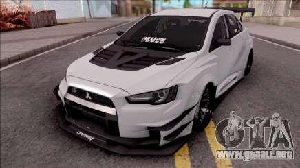 Mitsubishi Lancer Evolution X 2015 Varis Kit para GTA San Andreas
