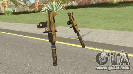 Micro SMG (Luxury Finish) GTA V Suppressor V1 para GTA San Andreas