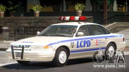 Ford Crown Victoria Police V1.1 para GTA 4