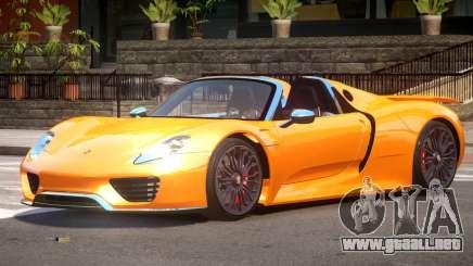 Porsche 918 Roadster V1.0 para GTA 4