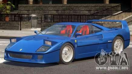 1995 Ferrari F40 V1.0 para GTA 4