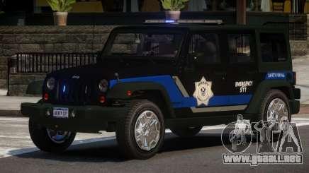 Jeep Wrangler Police V1.0 para GTA 4