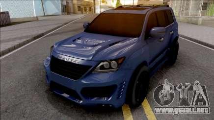Lexus LX 570 INVADER para GTA San Andreas