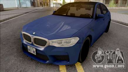 BMW M5 F90 2018 Blue para GTA San Andreas