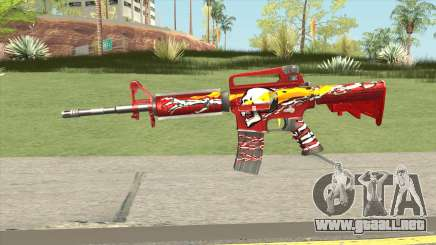 M4A1 (Flaming Skull) para GTA San Andreas