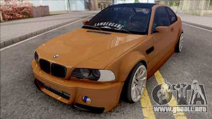 BMW 3-er E46 2000 Stance by Hazzard Garage v2 para GTA San Andreas