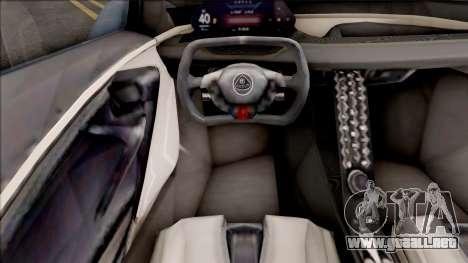 Lotus Evija 2021 para GTA San Andreas