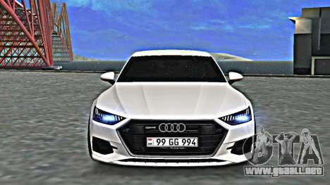 Audi A7 2020 Armenia para GTA San Andreas