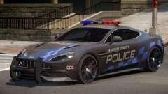 Aston Martin Vanquish Police V1.0 para GTA 4