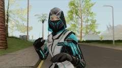 Ninja Azul (Free Fire) para GTA San Andreas