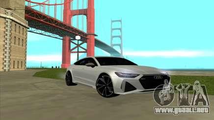 2020 Audi RS7 para GTA San Andreas