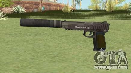 Pistol .50 GTA V (Green) Suppressor V1 para GTA San Andreas