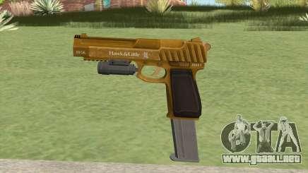 Pistol .50 GTA V (Gold) Flashlight V2 para GTA San Andreas