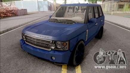 Land Rover Range Rover Superchargered 2008 v2 para GTA San Andreas
