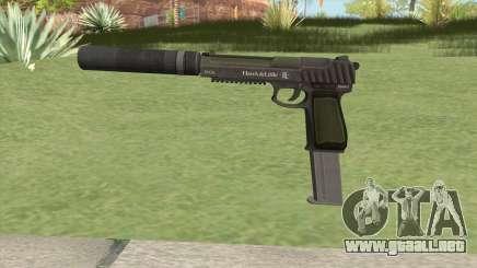 Pistol .50 GTA V (Green) Suppressor V2 para GTA San Andreas