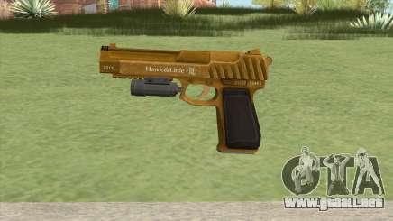 Pistol .50 GTA V (Gold) Flashlight V1 para GTA San Andreas