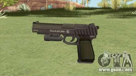Pistol .50 GTA V (Green) Flashlight V1 para GTA San Andreas